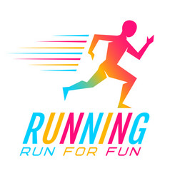 Colorful runner vector