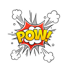 comic pow word vintage comics text vector image