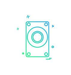 computer technology icon design vector image