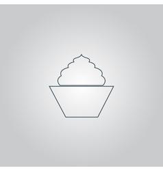 cupcake web icon design vector image