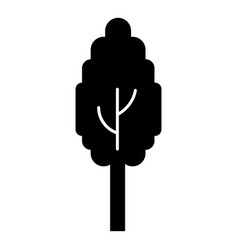 eco tree icon simple style vector image