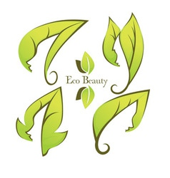 ecology and beauty vector image