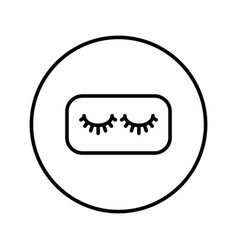 false eyelashes beauty industry icon editable vector image