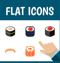 flat icon sushi set of sushi japanese food vector image