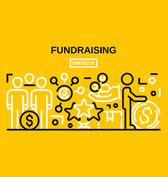 Fundraising banner outline style vector