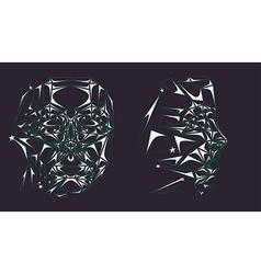 Glass robot face vector