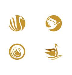 goose logo template vector image