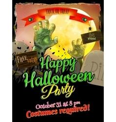 Grunge Halloween background EPS 10 vector image