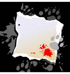 Grunge note background vector