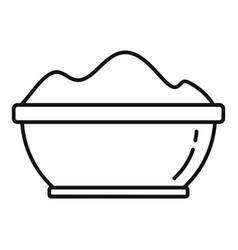 gymnastics powder icon outline style vector image