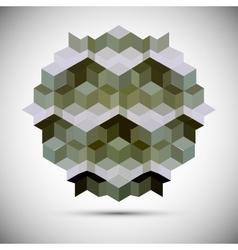 hexagon kaleidoscope optical vector image