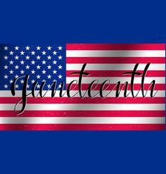 Juneteenth celebrate freedom vector