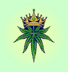 King marijuana logo vector