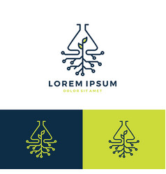 lab leaf tech logo vector image