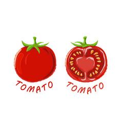 Logo icon design tomato farm vector