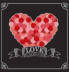 love card design vector image