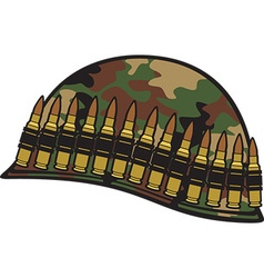 Military Helmet Icon vector image vector image