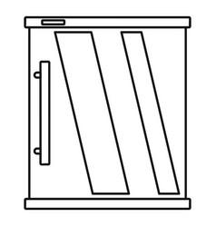 Mini refrigerator icon outline style vector