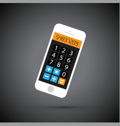 mobile phone calculator vector image