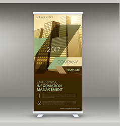 Modern standee roll up banner design template for vector