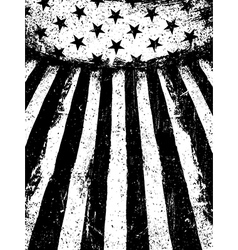 Monochrome Negative Photocopy American Flag vector image