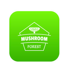 mushroom forest icon green vector image