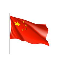 national flag of hina republic vector image