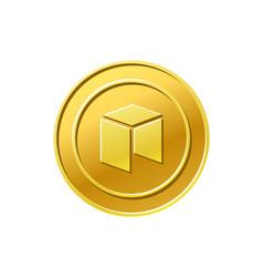 Neo crypto currency dash coin icon vector