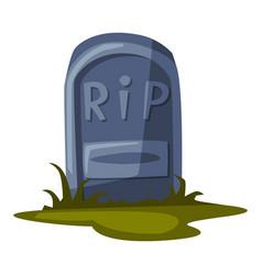 old gravestone happy halloween object cartoon vector image