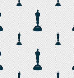 Oscar statuette icon sign Seamless pattern with vector