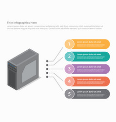 pc computer personal with isometric style vector image