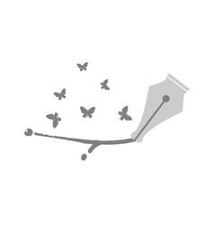 Pen tip design vector