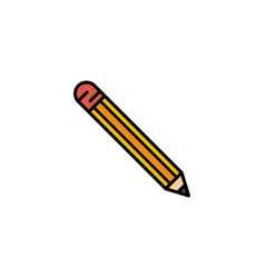 pencil flat icon sign symbol vector image