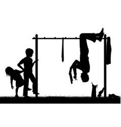 Playground Silouhette vector