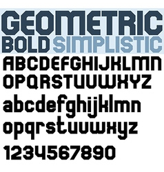 Poster black bold geometric font and numbers vector
