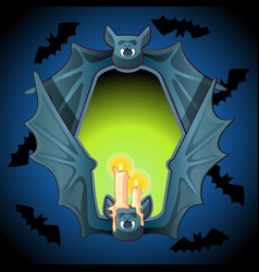 Poster in style of halloween holiday evil glow vector