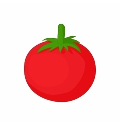 Red tomato icon cartoon style vector image