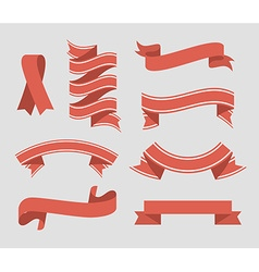 Ribbon digital design vector image