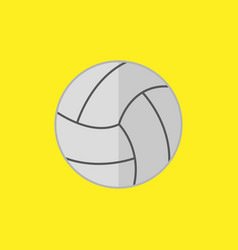 simple flat style volley ball sport graphic vector image