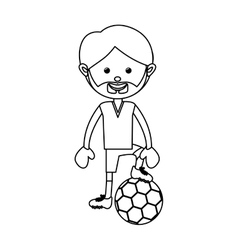 Soccer player icon image vector
