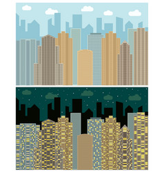 Street view with cityscape vector