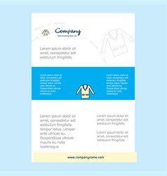 template layout for coat comany profile annual vector image