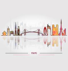 tokyo city silhouette vector image vector image
