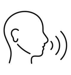 Training speech therapist icon outline style vector