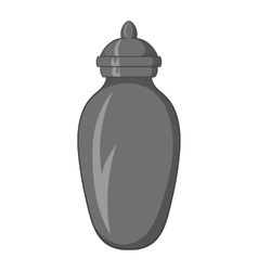 Urn for ashes icon black monochrome style vector