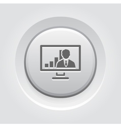 Video Conference Icon Business Concept vector image