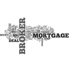 What you should look for in a mortgage broker vector