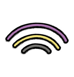 wifi digital symbol to digital information vector image