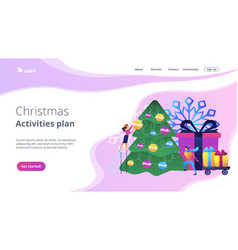 winter holidays concept landing page vector image