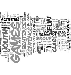 youth group games activities text background word vector image